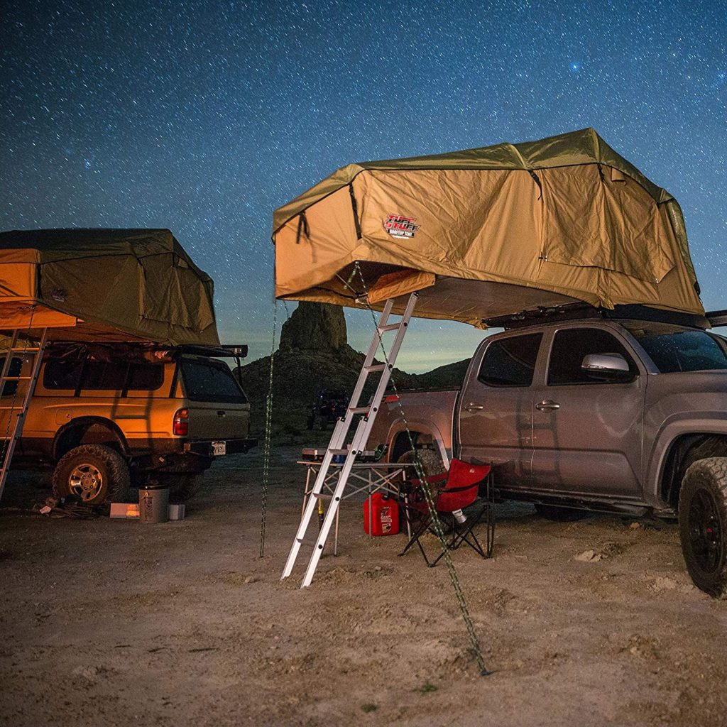 tacoma roof top tent setup