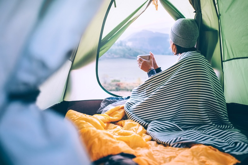 keepin warm inside a tent | roof top tent camping guidelines